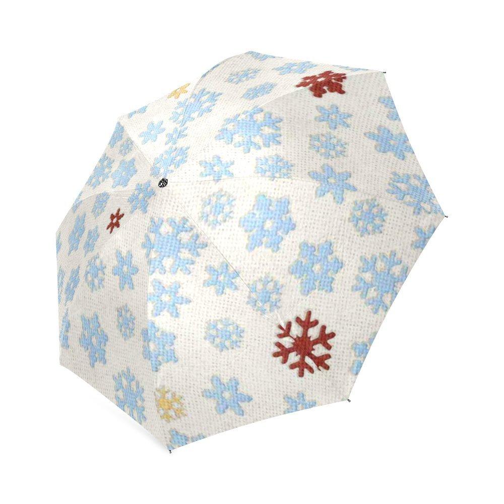 Customized Unique Snowflakes Folding Rain Umbrella Parasol Sun