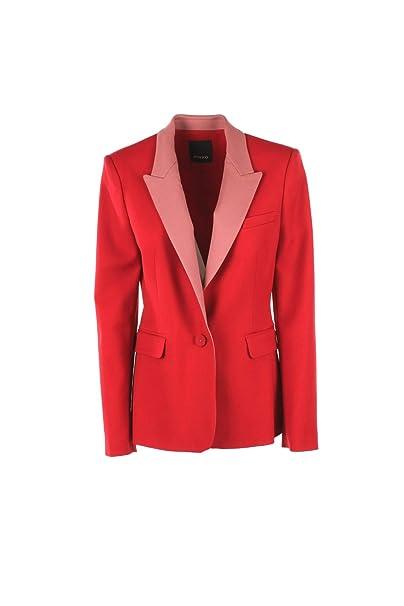 Pinko Giacca in Lana Tecnica Bicolore Donna MOD. 1B139Q6792RN401401  Patrizio Rosso Rosa  MainApps  Amazon.it  Abbigliamento 8dc62e3f6c2