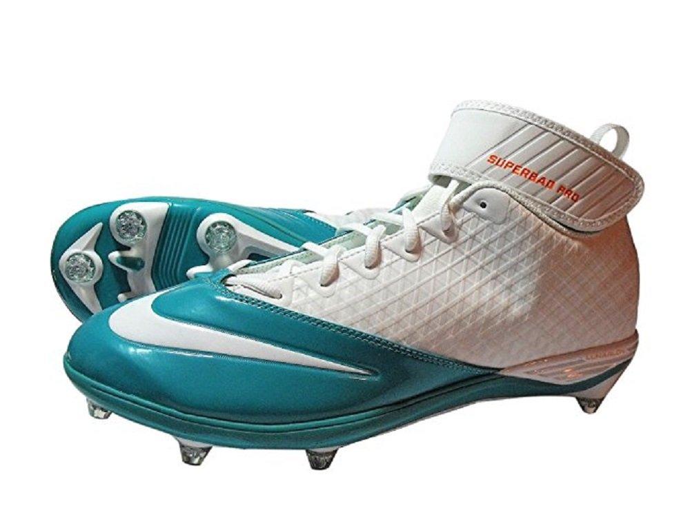 Nike Miami DolphinsメンズAlpha Pro Mid TD PFホワイト/オレンジ/ティールFootballサイズ18 B07831T4ZJ