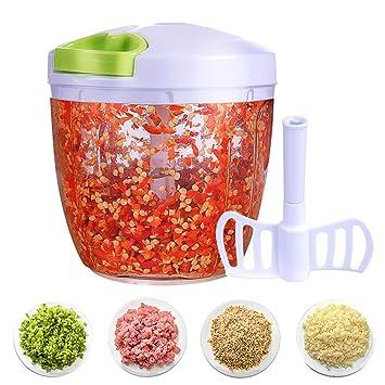 Cortador de Verduras Picadora de Verduras Manual Picadora de Alimentos para Picar Frutas Frutos Secos Hierbas