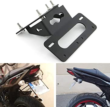 with Led License Plate Light 2017 2018 2019 SUZUKI SV650 // SV650X 2018-2019 Fender Eliminator//Tail Tidy Black Compatible with OEM//Stock Turn Signal