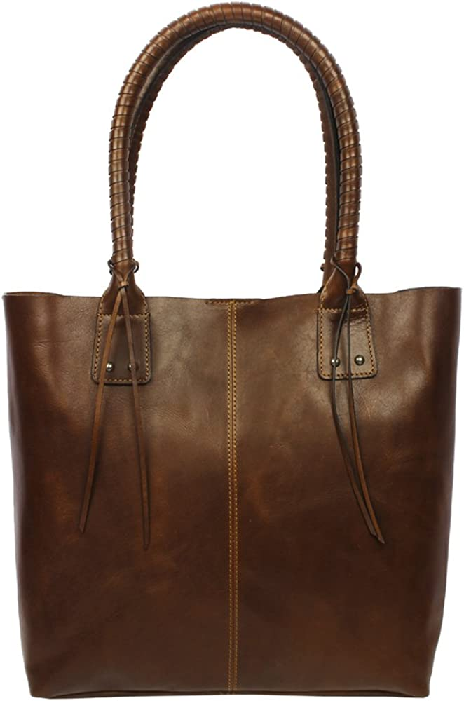 Womens Leather Tote Shopper Bag by Zoa