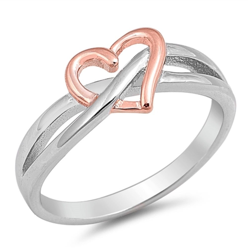 Princess Kylie Rhodium Plated Sterling Silver Little Waves Ring