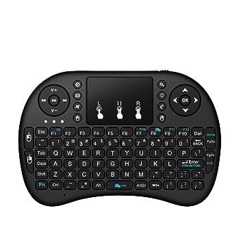 Slim Mini Gaming Keyboard con 2.4G Wireless TouchPad para PC Portátil Android Caja Smart Multimedia TV: Amazon.es: Deportes y aire libre