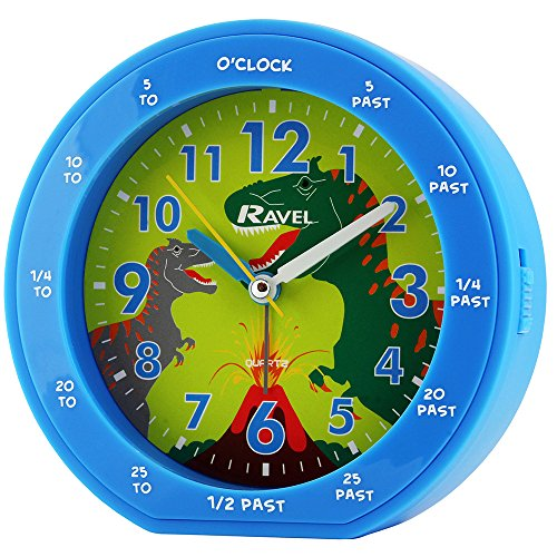 Ravel Rascals Boys - Kids Dinosaur Time Teachers Bedside Alarm Clock ()