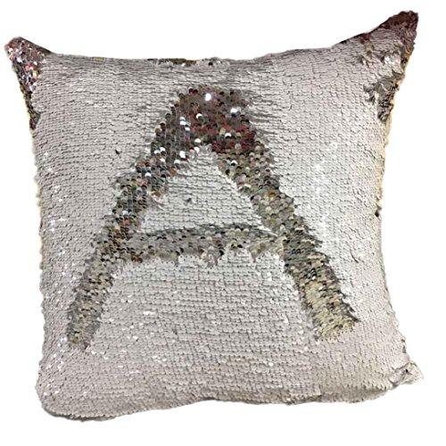 Hot Sale ! 40X40 CM Pillow Case, Ninasill Exclusive New Fashion Double Color Glitter Sequins Throw Pillow Case Cafe Home Decor Cushion Covers (J)