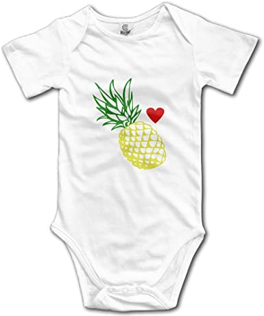 HappyLifea Pineapple Baby Pajamas Bodysuits Clothes Onesies Jumpsuits Outfits Black