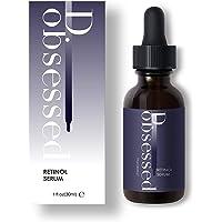 Retinol Serum High Strength by D.obsessed - Unique Blend of 2.5% Retinol, Hyaluronic Acid, Vitamin E & Jojoba Oil - Best Treatment for Acne, Scar, Spot, Pigmentation, Fine Lines & Wrinkles - for Face, Eye & Neck (30ml)