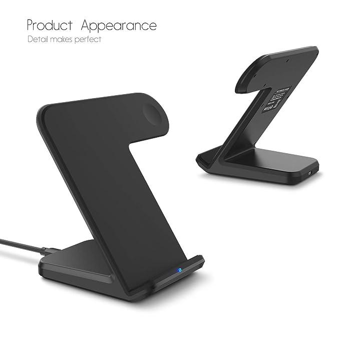 MMLC Qi Wireless Charger 2 en 1 Soporte Cargador Dock ...