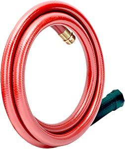 Solution4Patio Homes Garden 5/8 in. x 4 ft. Short Garden Hose Red Lead-Hose Male/Female, No Leaking, Solid Brass Fitting for Water Softener, Dehumidifier, Vehicle Water Filter 12 Year Warranty#H155B19