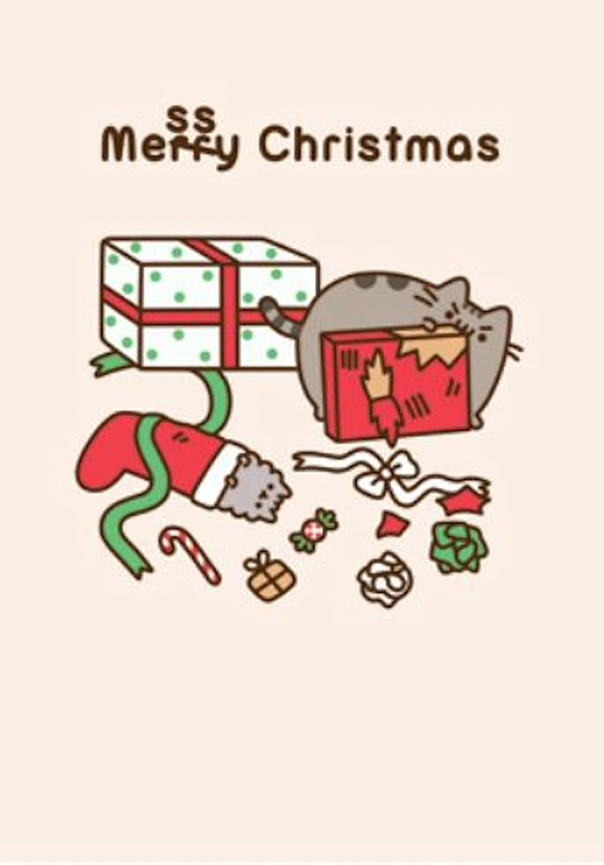 Pusheen Christmas.Messy Christmas Pusheen The Cat Greeting Card Amazon Co Uk