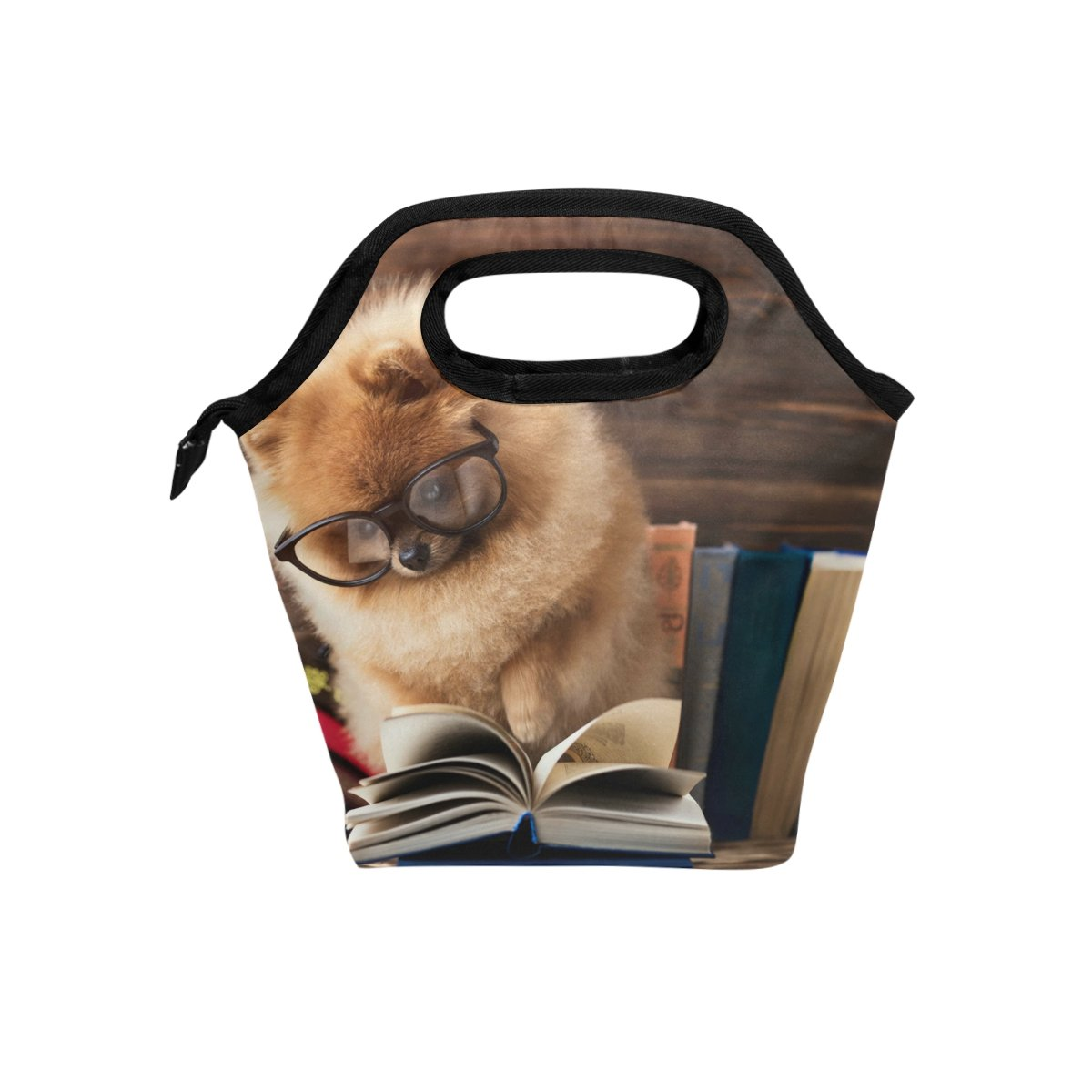 Bettken Lunch Bag Funny Animal Dog Insulated Reusable Lunch Box Portable Lunch Tote Bag Meal Bag Ice Pack for Kids Boys Girls Adult Men Women