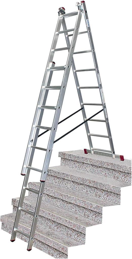 Krause Corda - Escalera multiusos (3 x 9 peldaños, con función escalera): Amazon.es: Bricolaje y herramientas