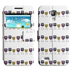 Be-Star Colorful Printed Design Slim PU Leather View Window Stand Flip Cover Case For Samsung Galaxy S4 mini / i9190 / i9192 ( Skinny Owl ) Kimberly Kurzendoerfer