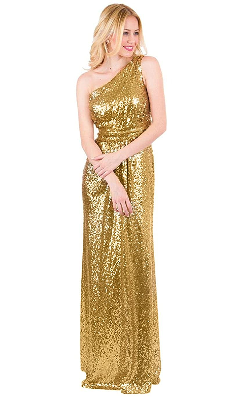 EverLove Women\'s Sequined Long Bridesmaid Dresses Wedding Party Gown ...