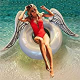 Inflatable Pool Float, Angel's Wing Beaches and Swimming River Raft Toys for Adults & Kids 42 inch Tube(White)