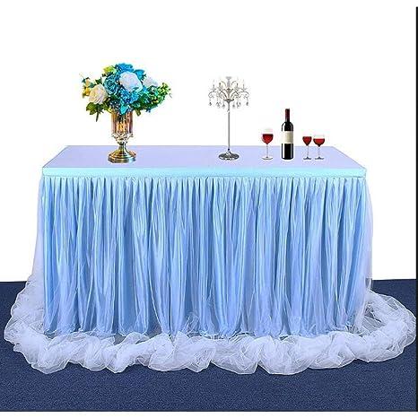 Amazon.com: Falda de mesa de tul para boda, decoración del ...