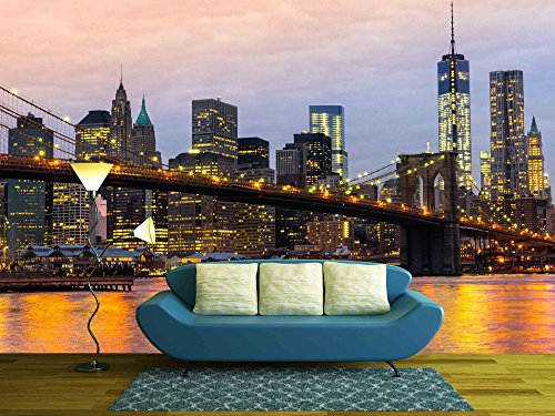Cheap  wall26 - Manhattan Skyline at Sunrise, New York City, Usa. - Removable..