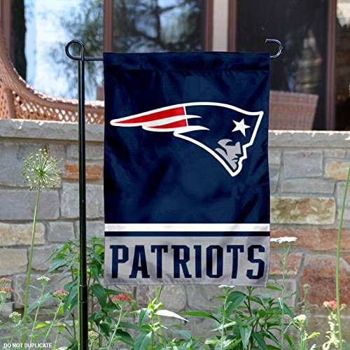 Banner Nfl Side 2 (New England Patriots Double Sided Garden Flag)