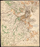 Historic Map   1870-1879 Map of Boston : showing health districts and undrained and drained land   Antique Vintage Reproduction