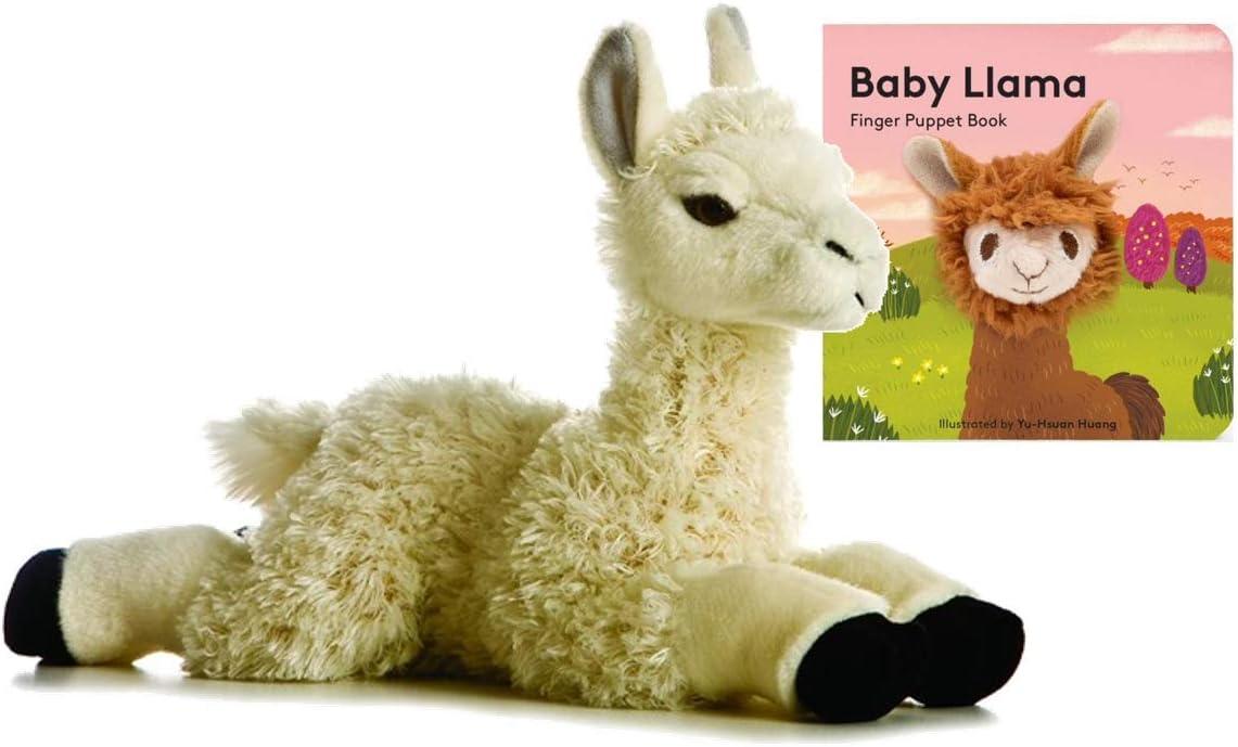 """Aurora World Flopsie Plush Llama 12"""" Gift Set"""