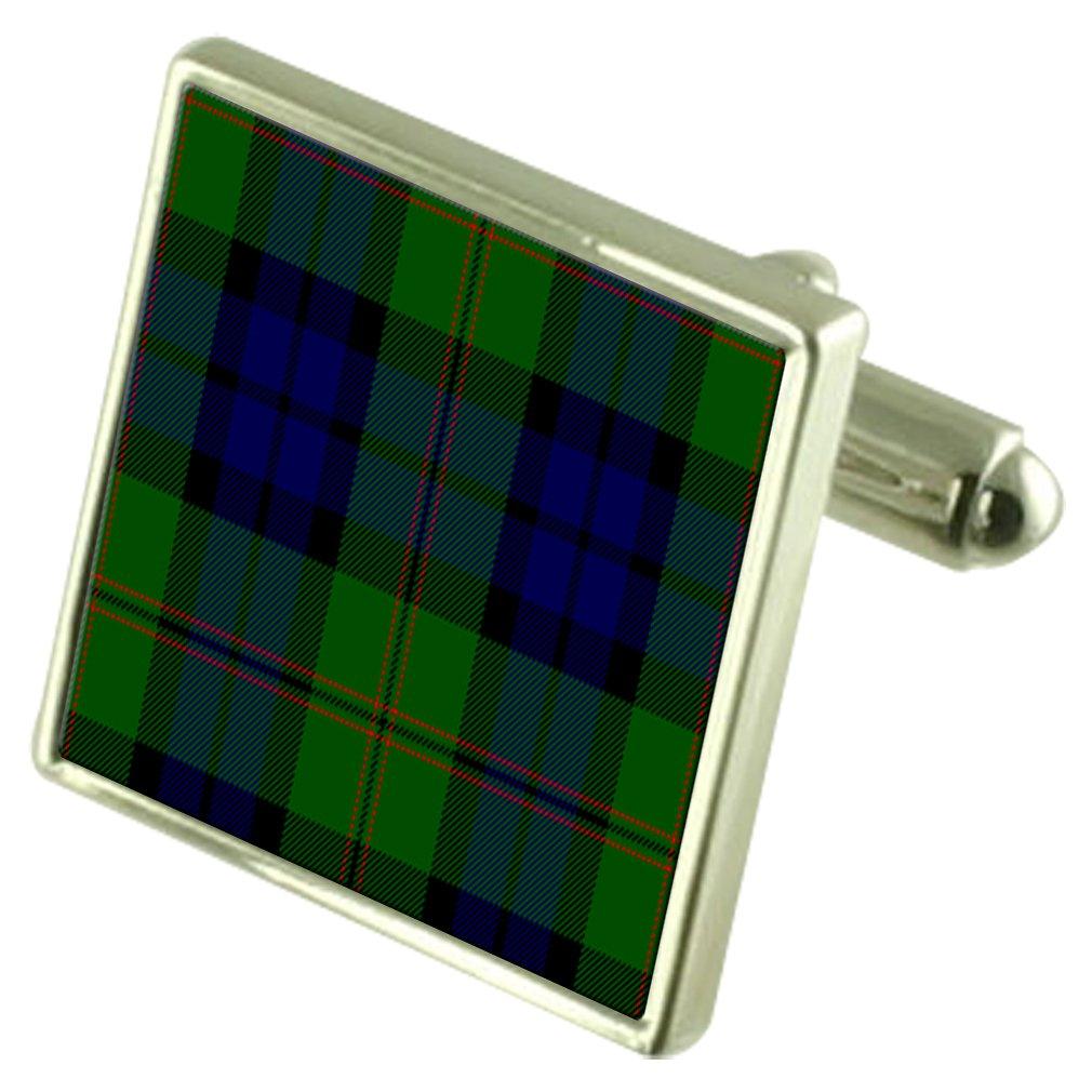 Select Gifts Tartan Clan Dundas Sterling Silver Cufflinks