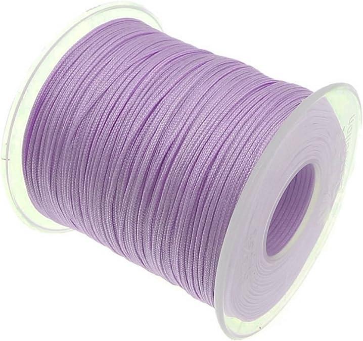 My-Bead Cinta de Nailon Cordón trenzado lila diámetro Ø 1 ...