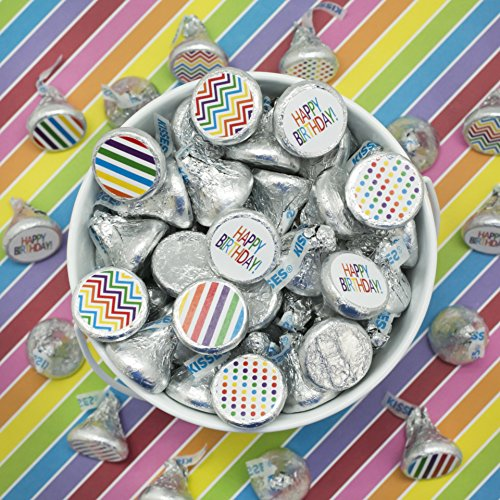 Rainbow Birthday Party Decoration Stickers For Hershey
