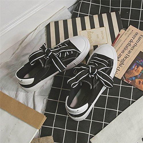 Zapatos Las Alta black De De Con Zapatos Cordones Mujeres De Las De Vestir De Respirable amp;G Deporte Calidad Zapatillas Vulcanize Mujer De NGRDX Lona a125 Zapatos De Mujeres qBwX8F
