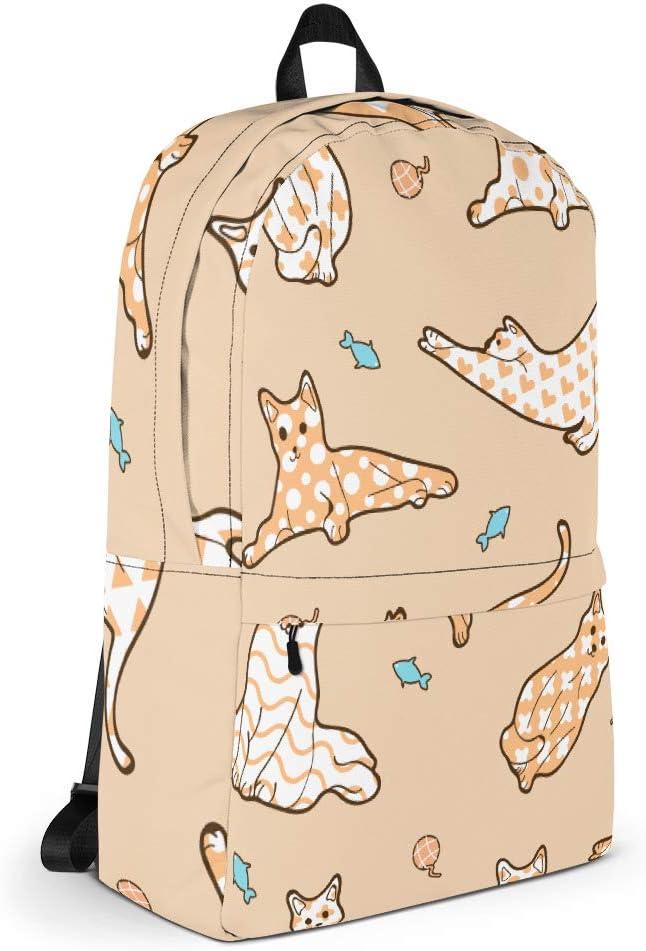Orange Cat Lover Backpack