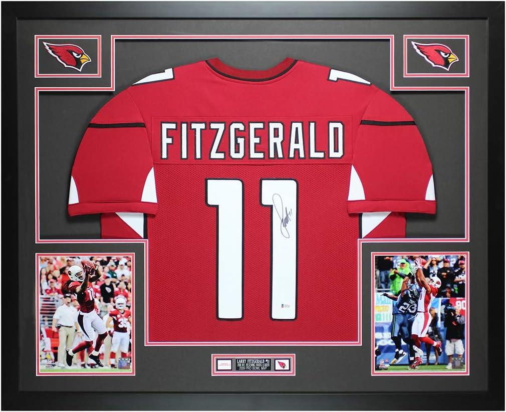 Larry Fitzgerald Autographed Red Arizona Jersey - Beautifully ...