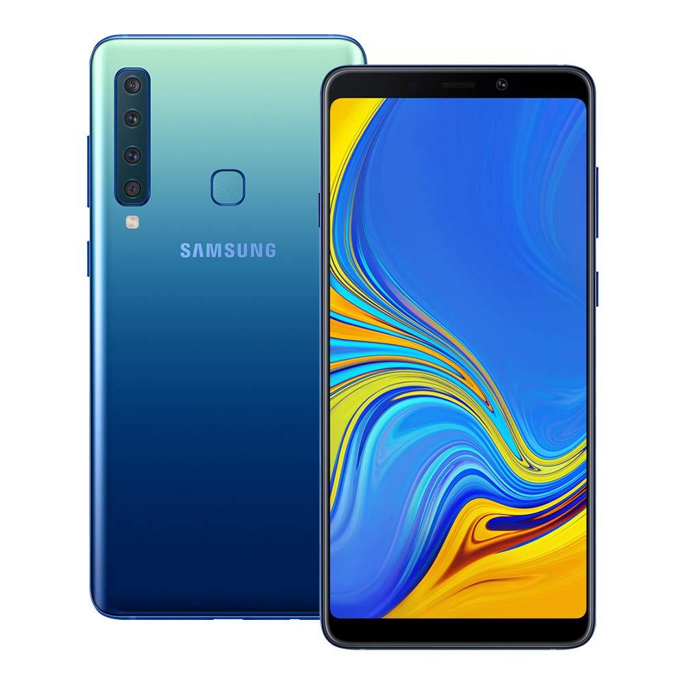 Samsung Galaxy A9 2018 (SM-A920F/DS) 6GB / 128GB 6.3-inches LTE Dual SIM Factory Unlocked - International Stock No Warranty (Lemonade Blue) by Samsung