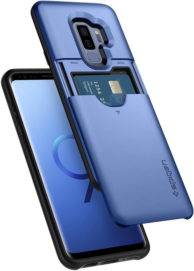Spigen Slim Armor CS Designed for Samsung Galaxy S9 Plus Case (2018) - Coral Blue