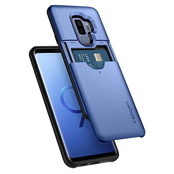 half off 0e5d9 1b591 Spigen Slim Armor CS Designed for Samsung Galaxy S9 Plus Case (2018) -  Coral Blue