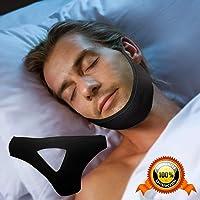 Correa para la barbilla anti ronquidos, CoWalkers el mejor dispositivo para dejar de roncar, correas de reducción de ronquidos ajustables, solución para el sueño para hombres, mujeres y niños(Negro)