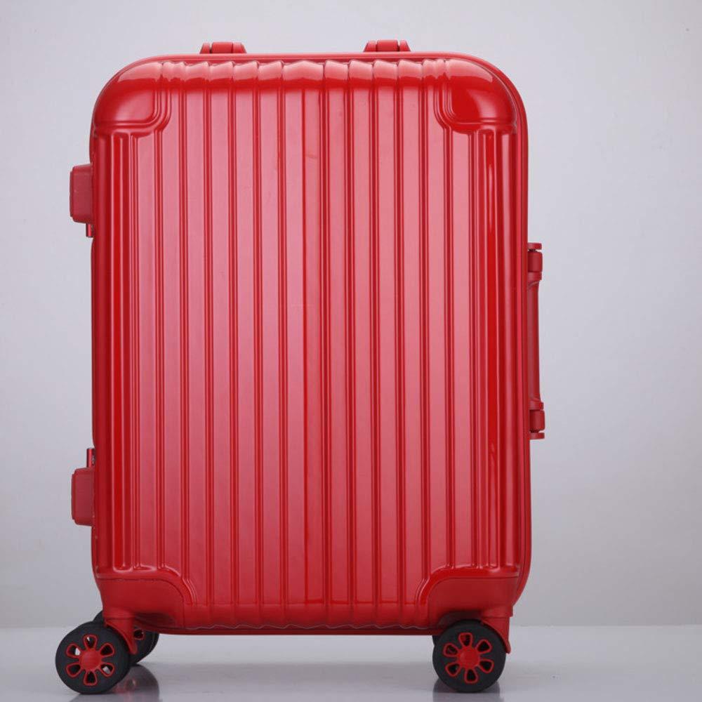 新しいトロリーケースユニバーサルホイール28アルミフレームの荷物無色24インチのスーツケース20インチのパスワード搭乗シャーシ (Color : 赤, Size : 26 inches)   B07QWL1DGN