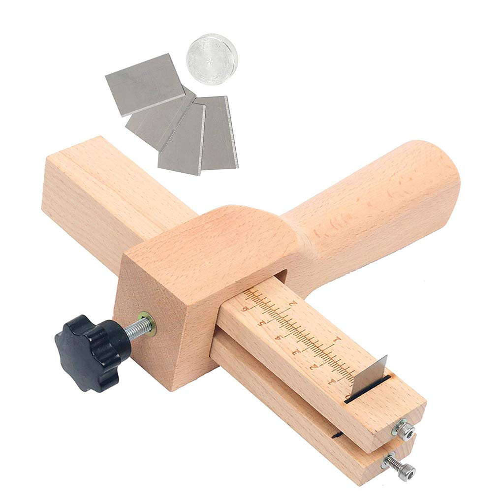 Wood Adjustable Strip and Strap Cutter DIY Craft Leather Hand Cutting Tools