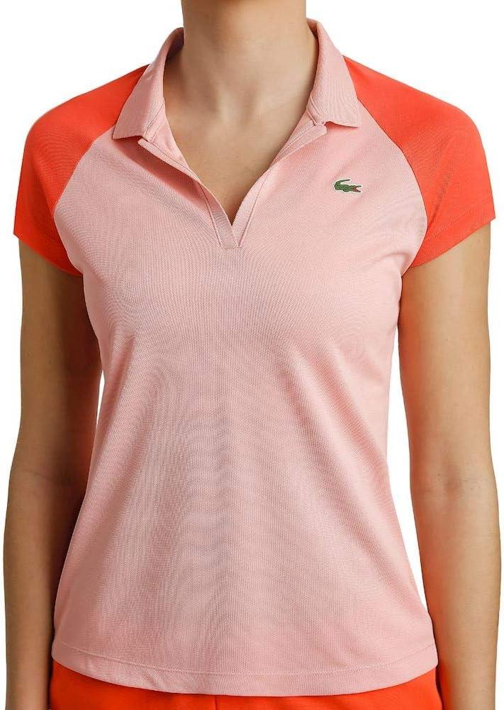 Lacoste, T-Shirt Damen-Rosa, Rot, 34 Ropa de Abrigo, Mujer: Amazon ...