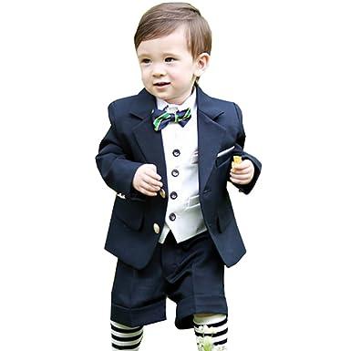 28250da03a518 cnstone 子供タキシード 6点セット 子供スーツ 男の子 スーツ ベビー フォーマルスーツ 結婚式 七五三