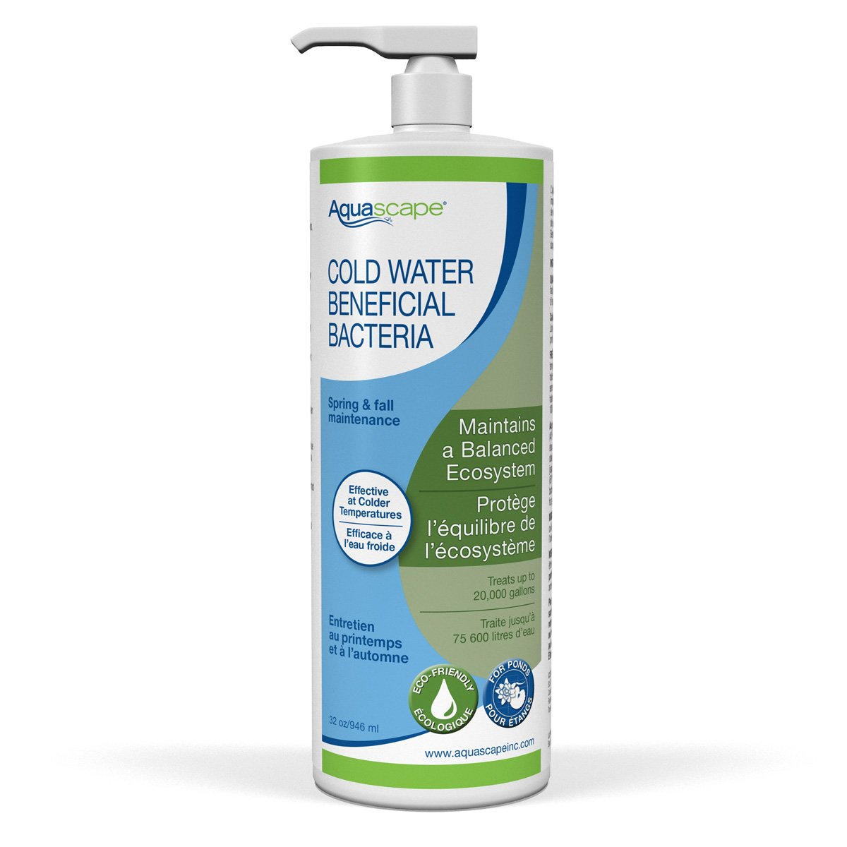 Aquascape Cold Water Treatment Beneficial Bacteria Liquid 32 Ounces / 946 ml for Pond Water Feature