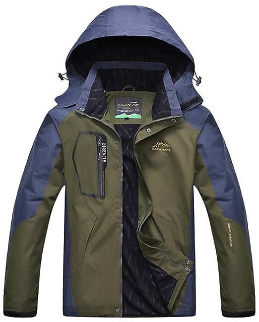 Hombre/Mujer Al Aire Libre Montaña Impermeable Windbreaker Softshell Chaqueta Con Capucha Verde L kIKv1i7Xl