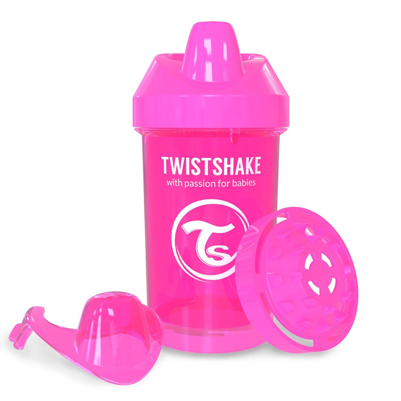 8 Plus Months Twistshake Crawler Cup Pink 300ml