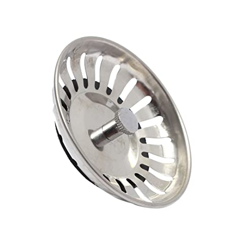 aowa stainless steel home kitchen sink drain stopper basket strainer waste plug 83mm home kitchen stainless amazon com  aowa stainless steel home kitchen sink drain stopper      rh   amazon com
