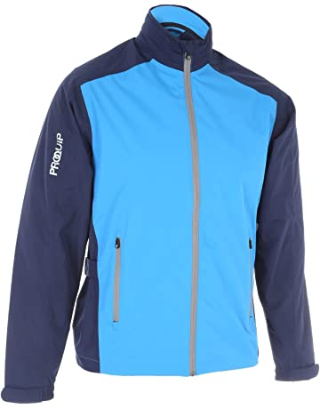 867dd158f2e8 ProQuip Golf Mens Aquastorm PX1 Waterproof Rain Jacket Full Zip Navy Blue  X-Large