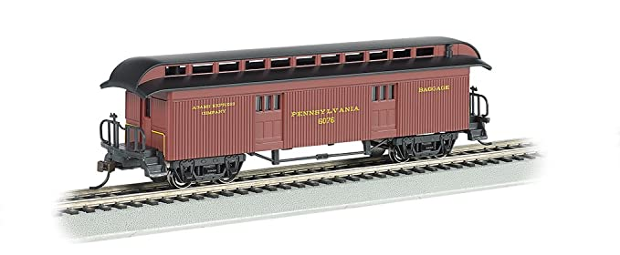 076346721eb1 Bachmann Industries Baggage Prr Ho Scale Old-Time Car with Round-End  Clerestory Roof