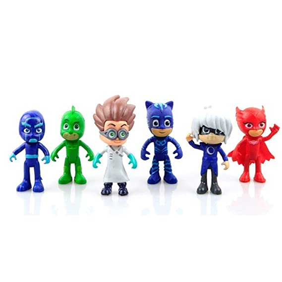 PJ Masks Juguetes - PJ Masks Toys 6 Pcs Figures Popular Cartoon Figure Toys: Amazon.es: Juguetes y juegos