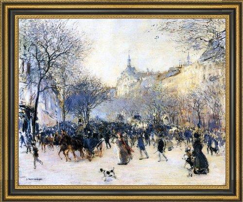 jean-francois-raffaelli-le-carrefour-drouot-165-x-205-framed-premium-canvas-print