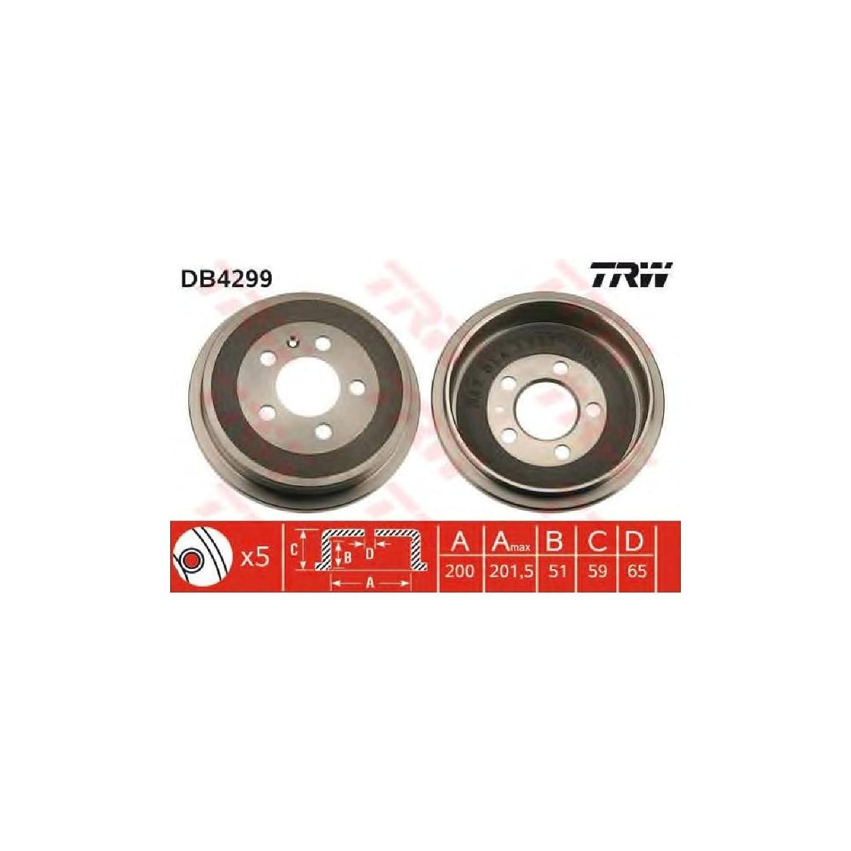 TRW Automotive AfterMarket DB4299 tambor de freno - 1 pieza