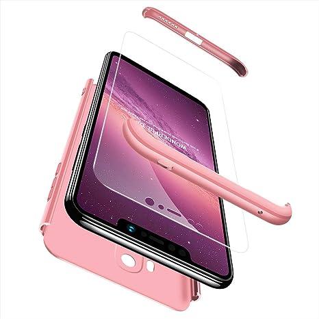 Ququcheng Funda Xiaomi Pocophone F1,Carcasa Xiaomi Pocophone F1[con Protector de Pantalla] 3 en 1 Desmontable 360°Protection Case Ultra-Delgado Cover ...