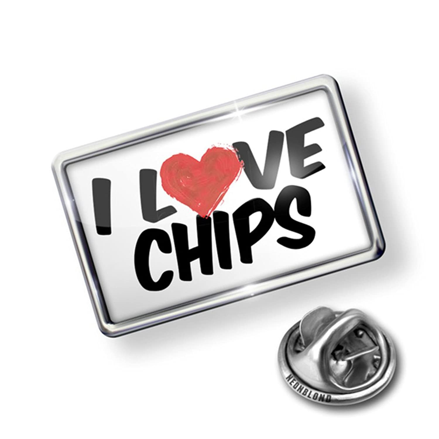 Pin I Love Chips - Lapel Badge - NEONBLOND